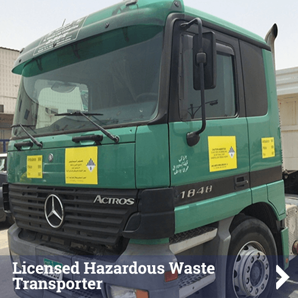 Licensed Hazerdous Waste Transporter - Click to find out more